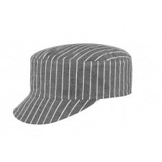 Kuchárska šiltovka New Grey Stripe, vzorovaná - Egochef