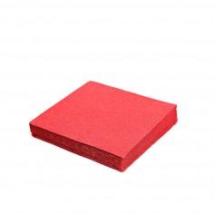 Servítky papierové dvojvrstvové 33x33cm - jednofarebné