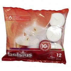 Čajová sviečka Bolsius Maxi, 12ks - 10h horenia, Ø60mm