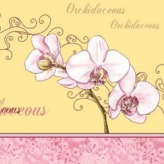 Servítky z netkanej textílie Airlaid Orchidee, 40x40cm, Mank