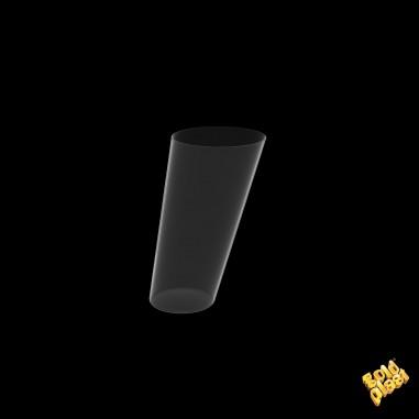 Plastová nádobka na Fingerfood Coni Clear, Gold Plast