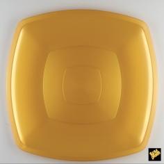 Plastový tanier Ø300mm, zlatý - Gold Plast