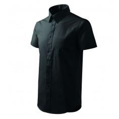 Pánska čašnícka košeľa s krátkym rukávom, čierna