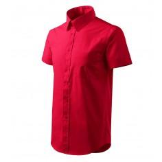 Pánska čašnícka košeľa s krátkym rukávom, červená
