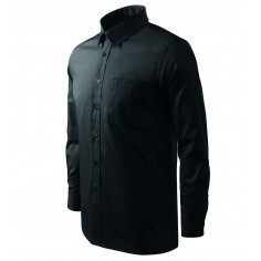 Pánska čašnícka košeľa s dlhým rukávom, čierna