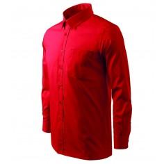 Pánska čašnícka košeľa s dlhým rukávom, červená