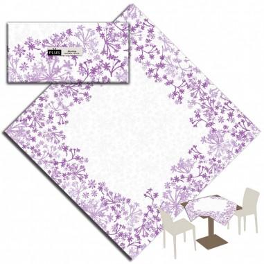 Obrus Palma z netkanej textílie Airlaid, 100x100cm Pack Service - fialový