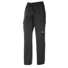 Kuchárske nohavice s bočnými vreckami Black, kapsáče, Egochef