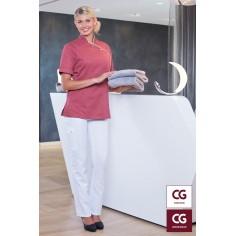 Dámske nohavice Brescia pre kuchárky, zdravotníčky a welness personál - biele, CG Workwear