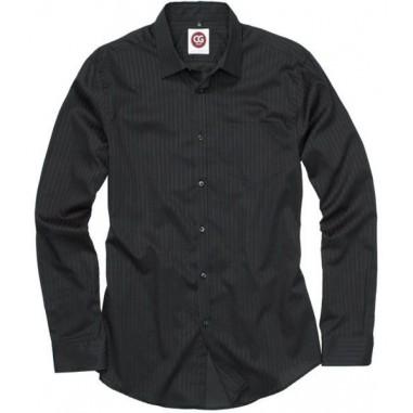 Pánska čašnícka košeľa Filaga Man, čierna s prúžkom - CG Workwear