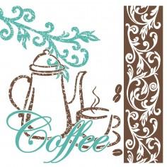 Servítky Coffee/Tea papierové, 3 vrstvové, 25x25cm - Mank