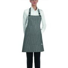 Čašnícka a kuchárska zástera Grey Stripe okolo krku, 70x70cm - Egochef
