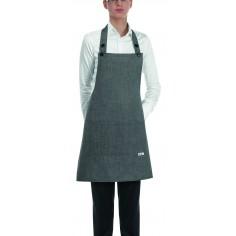 Čašnícka a kuchárska zástera Grey Mix okolo krku, 70x70cm - Egochef