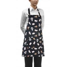 Čašnícka a kuchárska zástera Puppies okolo krku, 70x70cm - Egochef