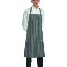 Kuchárska a čašnícka zástera okolo krku Grey Stripe, 90x70cm, Egochef