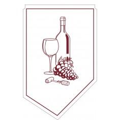 Manžeta/kravata na fľašu vína 100x65mm, 9vrstvový papier, Mank