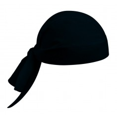 Kuchárska šatka na hlavu jednofarebná, čierna