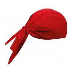 Kuchárska šatka na hlavu, červená, jednofarebná, Egochef