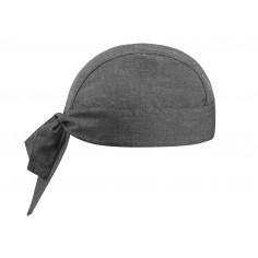 Kuchárska šatka na hlavu Grey Mix, vzorovaná, Egochef