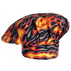 Kuchárska čiapka Flames, vzorovaná - Egochef