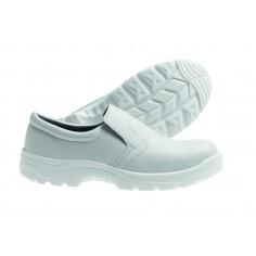 Pracovná obuv pre kuchárov uzavretá, biela