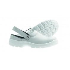 Pracovná obuv pre kuchárov s otvorenou pätou, biela