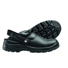 Pracovná obuv pre kuchárov s otvorenou pätou, čierna