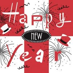Servítky na Nový rok (Airlaid), New Year, 25x25cm, Mank