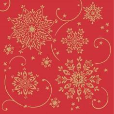 Vianočné servítky (Airlaid) Cristal, červené 40x40cm, Mank