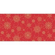 Vianočná šerpa na stôl Cristal červená (Airlaid), 40cm x 24m, Mank