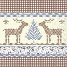 Vianočné servítky Noah papierové, 40x40cm - Mank