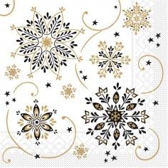 Vianočné servítky Cristal 33x33cm, papierové - Mank