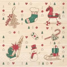 Vianočné servítky Grace 33x33cm, papierové - Mank