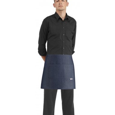 Čašnícka zástera Barman Jeans, 40x70cm s vreckom, Egochef