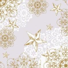 Vianočné servítky z netkanej textílie 40x40cm, šedá a zlatá, Mank