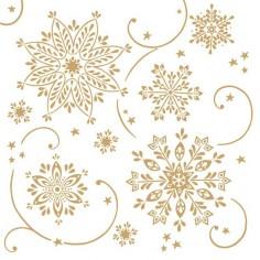 Vianočné servítky Cristal biele, netkaná textília, 40x40cm, Mank