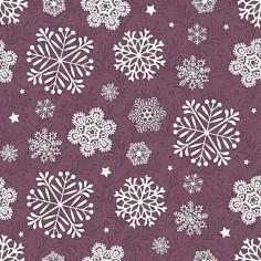 Vianočné servítky Steven, netkaná textília, 40x40cm, fialové, Mank