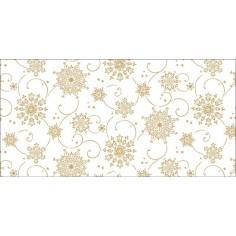 Vianočná šerpa na stôl Cristal, 40cm x 24m, bielo-zlatá, Mank