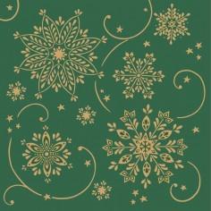 Vianočné servítky Cristal. 40x40cm, zelené, Mank