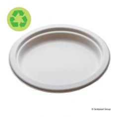 Veľký oválny tanier, kompostovateľný, 310x250mm, GoldPlast