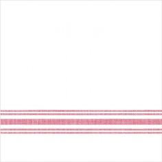 Servítky z netkanej textílie, Bill, 40x40cm, Mank - biele s červeným prúžkom