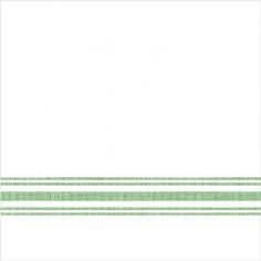 Servítky z netkanej textílie, Bill, 40x40cm, Mank - biele so zeleným prúžkom