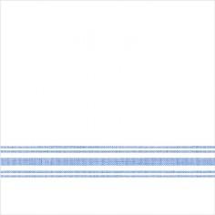 Servítky z netkanej textílie, Bill, 40x40cm, Mank - biele s modrým prúžkom