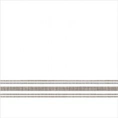 Servítky z netkanej textílie, Bill, 40x40cm, Mank - biele s hnedým prúžkom