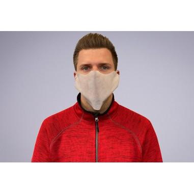 Jednorazové ochranné rúška na tvár z netkanej textílie, červené - Mank
