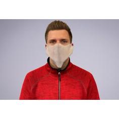 Jednorazové ochranné rúška na tvár z netkanej textílie, biele - Mank