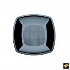 Plastový dezertný tanier 180mm - čierny