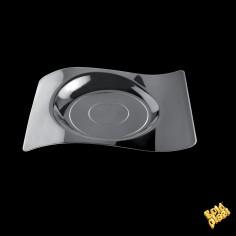 Plastový plytký tanier FORMA - 220 x 180mm - transparentný