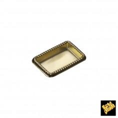 Plastový podnos obdĺžnik 57x39mm, zlatý Finger Food