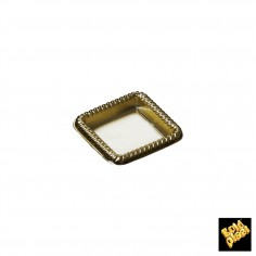 Plastový podnos štvorec 43mm, zlatý - Finger Food, Gold Plast